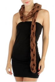 wholesale S18 Bold Chain Knit Scarf BR fashionunic