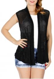 wholesale H41C Solid color crochet vest
