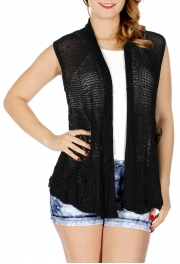 wholesale H41C Solid color crochet vest