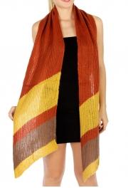wholesale Bias stripe knit scarf Pumpkin