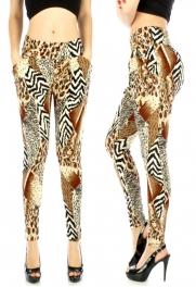 wholesale BX4 Cotton mix animal pocket harem pants