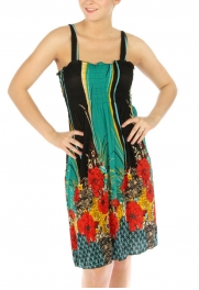 Wholesale M07 Vertical flower garden tube dress TL