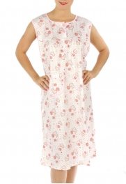 wholesale M02 Cotton blend heart nightgown Peach L