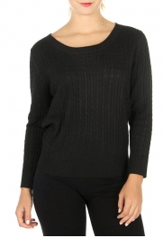 Wholesale G35 Solid crew neck sweater Black