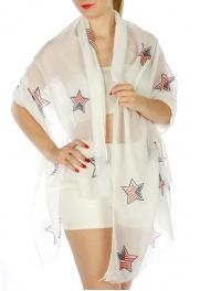 Wholesale H10D Americana Star Pattern Scarf FL
