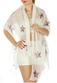 Wholesale H10D Americana Star Pattern Scarf FL