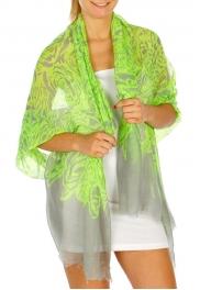 wholesale G04 Floral scarf Green fashionunic fashionunic