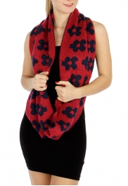 wholesale P10 flower reversible infinity Knit scarf FS