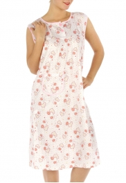 wholesale M02 Cotton blend heart nightgown Peach XL