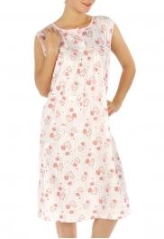 wholesale M02 Cotton blend heart nightgown Peach XL