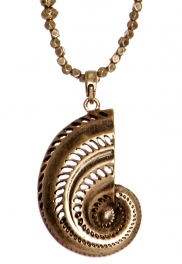 Wholesale WA00 Metal ammonite pendant necklace RGB