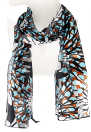Wholesale O44B Chrysanthemum satin scarf