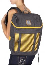Wholesale U11B Laptop backpack Gray/Yellow
