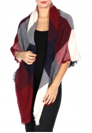 Wholesale Y22C Large square blanket scarf NVYGRY