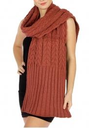 wholesale Oversized cable knit ribbed scarf D.Grey fashionunic