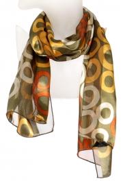 Wholesale WA00 Ring print satin scarf