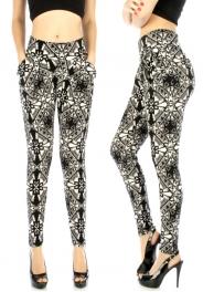 wholesale Cotton ethnic brick abstract harem pants