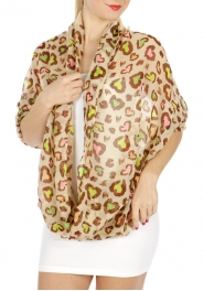 wholesale H15 Multi color leopard infinity scarf Beige