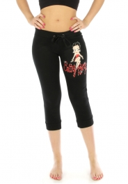 wholesale N08 Betty boop cotton capri pants Black