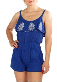 Wholesale I10D Spaghetti String Embroidery Romper RB