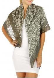 wholesale H00 Cotton Paisley Shawl Grey fashionunic