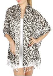 wholesale D29 Symbol Print Shawl White fashionunic