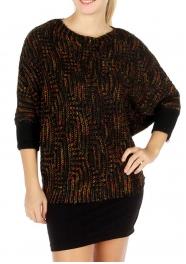 Wholesale S78 3/4 cape sleeve sweater Black fashionunic
