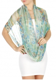 Wholesale H45 Hibiscus infinity scarf BL
