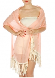 Wholesale H31E Big Tassel Solid Scarf CO