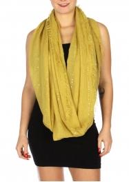 Wholesale H30A Sequin fashion scarf Dozen