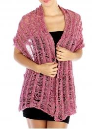 wholesale E10 Soft mesh knit scarf FUSCHIA fashionunic