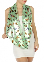 wholesale H45 Butterfly infinity scarf Mint fashionunic