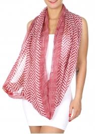 Wholesale I43A Chevron print infinity scarf Dozen