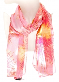 Wholesale WA00 Fireworks print satin scarf