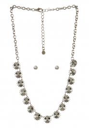 wholesale Spiked stone necklace set RHCL fashionunic