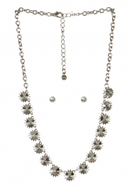 wholesale Spiked stone necklace set RHCL fashionunic