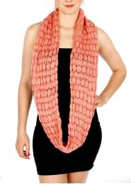Wholesale T23D Knit Infinity Scarf w/ Sequins PN