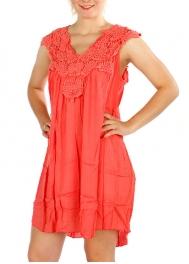 Wholesale H47B Short Gauzed Lace Top Dress BE