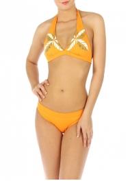 wholesale H11 Palm leaves bikini swimsuit Orange