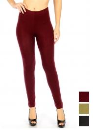 Wholesale E06 Solid cotton leggings Black fashionnic
