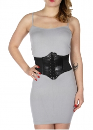 Wholesale D67 Corset leather belt BLK