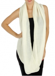 wholesale M03 Acrylic woven solid infinity scarves IV