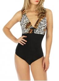 wholesale K24 Two tone one-piece swimsuit WT Zebra