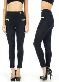Wholesale H05 Neon accent legging pants NV/YL One Size