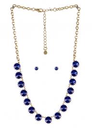 wholesale Spiked stone necklace set GDBL fashionunic