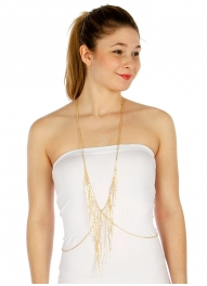 Wholesale L03B Crisscross body chain GD