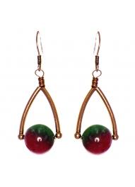 Wholesale WA00 Wishbone & stone earrings CB