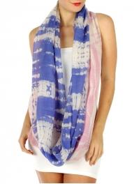 wholesale G29 Tie-dye wide infinity scarf Lavender