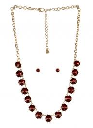 wholesale Spiked stone necklace set GDBUG fashionunic