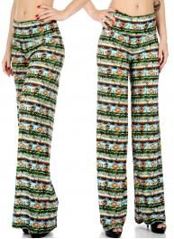 Wholesale P20 Abstract print palazzo pants
